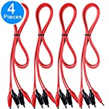 EAONE 4 Groups Test Leads Set with Alligator Clips, Double-end Test Wires, 39 Inches