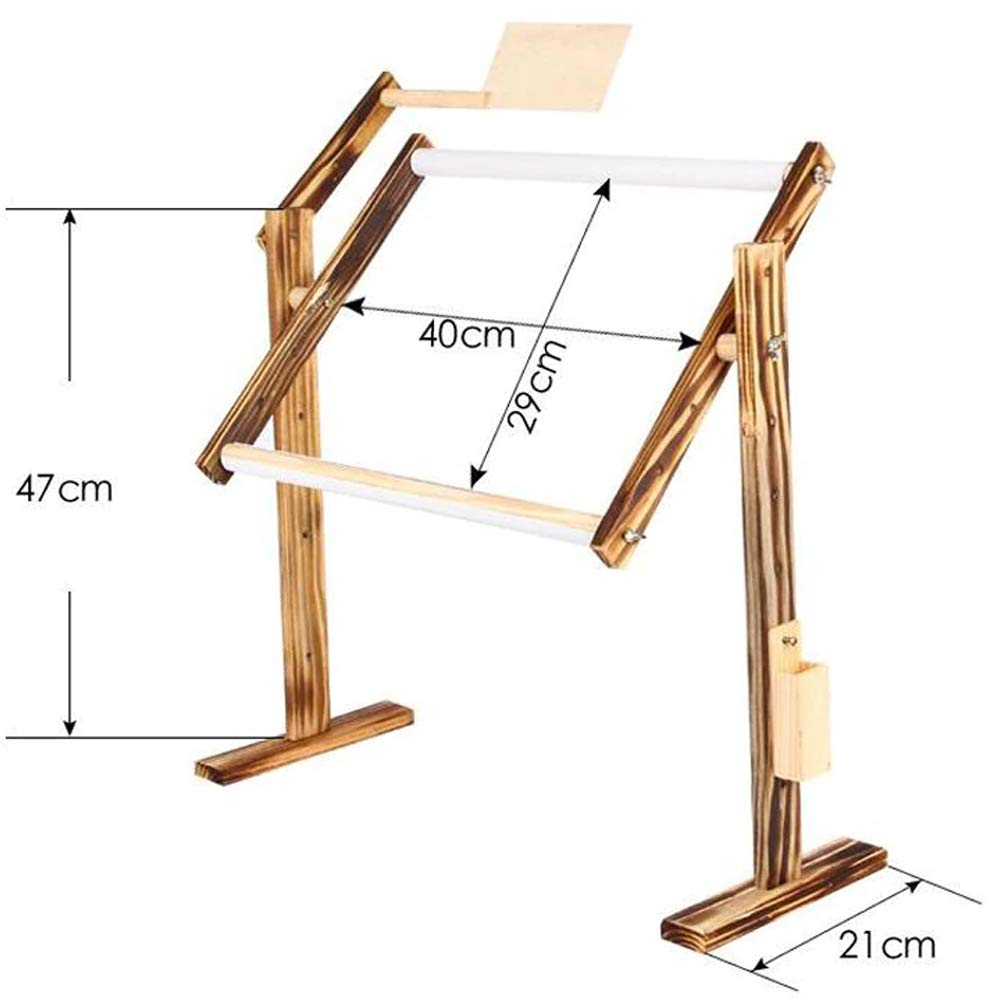 Cross Stitch Embroidery Frame Adjustable Solid Wooden Stand Desktop with Scroll Frame DIY Tool Quilting Embroidery Cross-Stitch Silk-Painting SEWCUTE