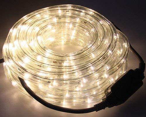 LEDs in warmwei/ß LED Lichtschlauch 12 Meter f/ür Innen und Au/ßen