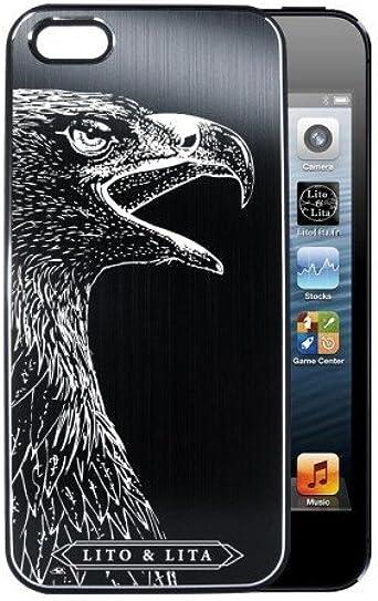Coque iPhone 5/5S Aigle, Oiseau DE Proie en alu brossé Noir ...