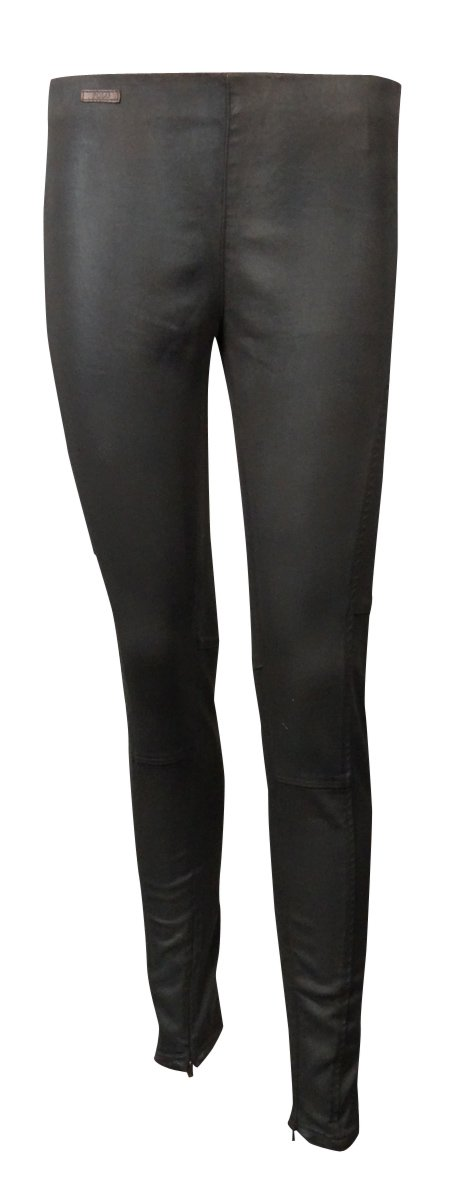 Polo Ralph Lauren Womens Coated Flat Front Leggings Brown 29
