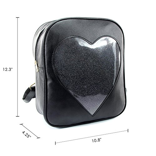 2019 Summer Candy Backpacks Transparent Love Heart Shape Pu Leather School Bags Purse Lovely Ita Bag