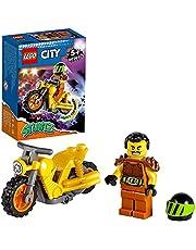 LEGO 60297 City Stuntz Sloop Stuntmotor met Speelgoed Motor met Vliegwielaandrijving & Racer Wallop Minifiguur, Speelgoed voor Kinderen van 5+