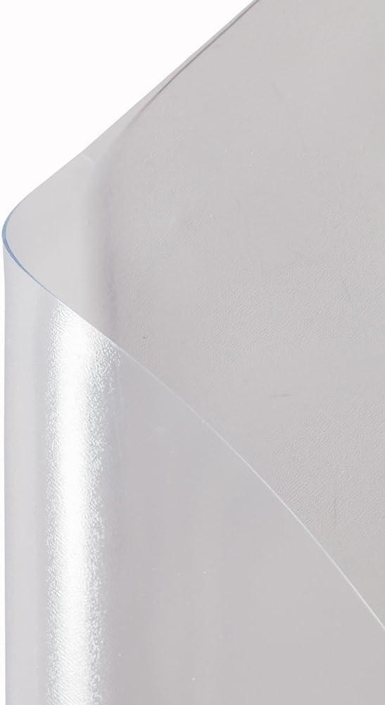 1.5mm Thick Plastic Clear Mat PVC Matte Home-use Office Chair Mat 36 x 48 Transparent Chair Mat Protective Mat for Floor