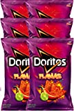 Doritos Flamas Flavored Tortilla Chips Net Wt 10 Oz Snack Care Package (6)