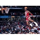 (11.7 X 8.3) Michael Jordan NBA Chicago Bulls Print Signed (Pre-print Autograph)