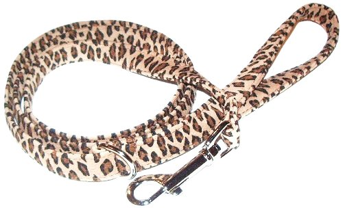The Dog Squad Ultra Suede Pet Leash, 4-Feet, Leopard
