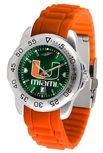 Miami Hurricanes Sport Silicone Men's (Miami Sport Watch)