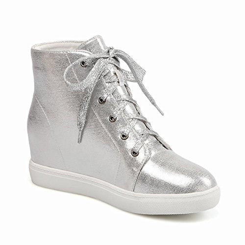 Boots High Latasa Fashion Silver up Ankle Wedges Star Womens Lace 7Ygq8