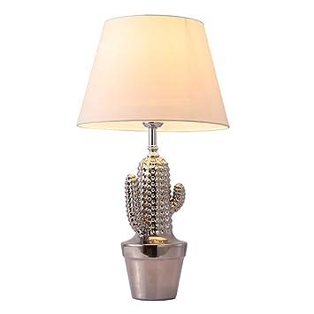 Lámparas de Escritorio, Lámpara De Mesa Cactus De Plata, Planta ...