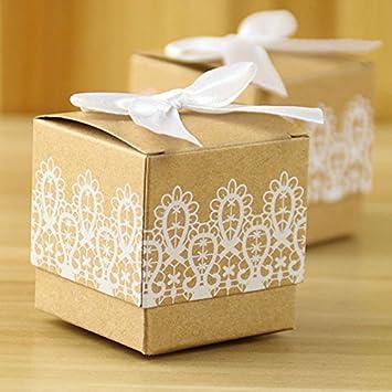 Amazon 50pcs Candy Box Folded Kraft Paper For Gifts Wedding