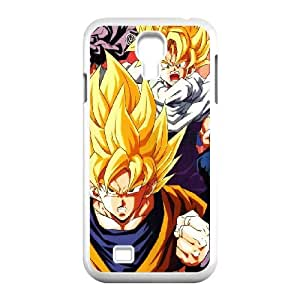 Samsung Galaxy S4 9500 Cell Phone Case White Dragonball Z Goku Fire C5M2PS