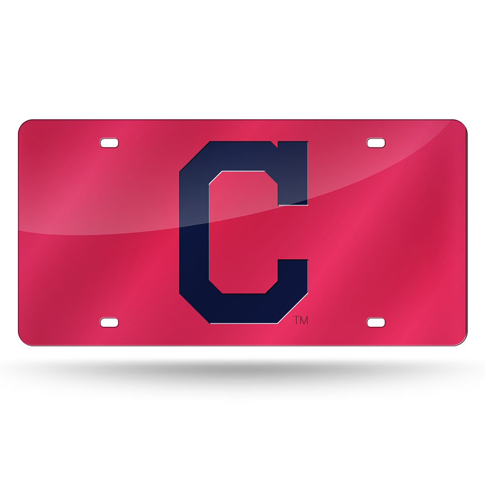 Rico Industries MLB Cleveland Indians Laser Cut License Plate