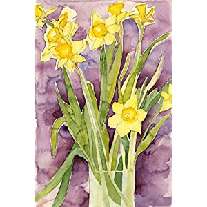 Floral Watercolor Print - Daffodils - Fine Art Painting, Wall Decor, Gift 7