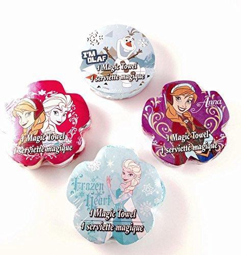 Disney Frozen Magic Towel Elsa Anna and Olaf Set of 4 (Towel Magic)