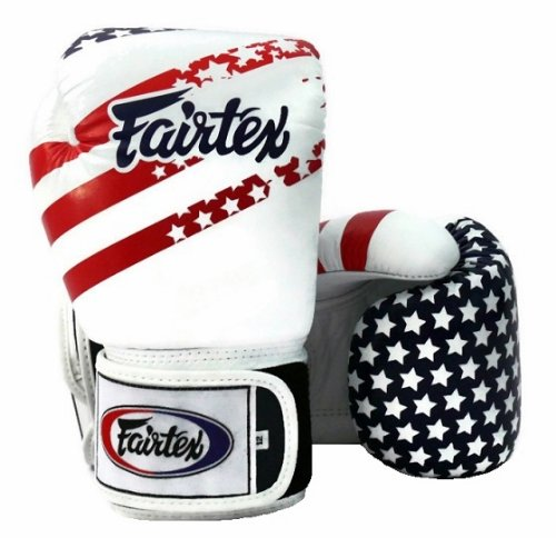 Fairtex Boxing Gloves - BGV1 USA Flag, 12 14 16 oz. Training, Sparring Gloves for Muay Thai, Kick Boxing, MMA (16 oz)
