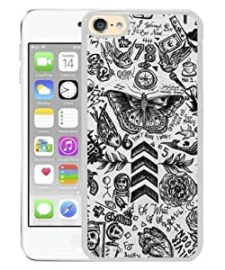 Fashionable iPod 6 Case,1D One Direction Tattoos White Customized Case For iPod Touch 6 Case