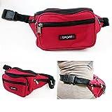 1 Waist Fanny Pack Belt Bag Pouch Travel Sport Hip Purse Zipper Sports Running