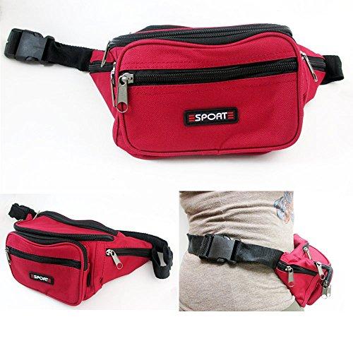 1 Waist Fanny Pack Belt Bag Pouch Travel Sport Hip Purse Zipper Sports Running Review