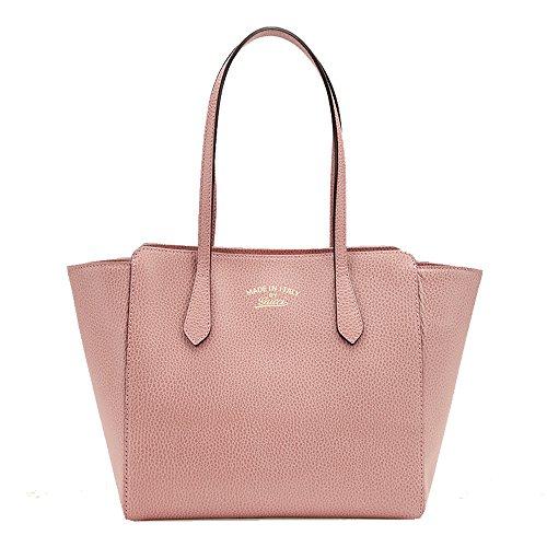 Gucci Women's Swing Tote Small Light Pink Leather 354408 - Handbags Women Gucci