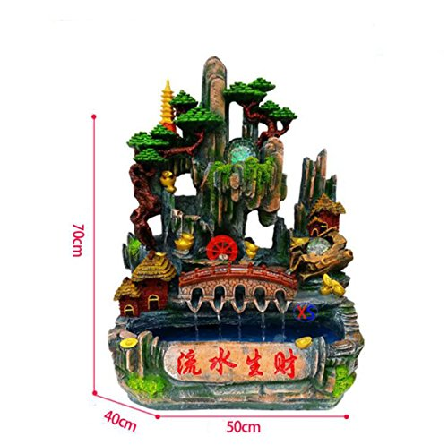 Resin Fish Tank Rockery Arch Landscape Micro-landscape Water Ornaments Creative Gifts Feng Shui Wheel Water Landscape Decoration Artwork
