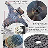 diamond profile grinding wheels router bit Radius Demi B25 1'' 25 MM and 5'' Polishing Pad Buffer Marble Stone Granite Profile countertop Edges shaping aluminum backer tile grinder sander polisher