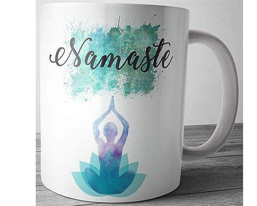 Namaste Taza de yoga con cita inspiradora para regalo de ...