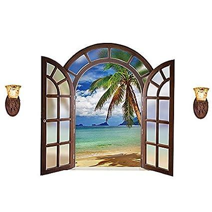 eDealMax PVC Marina Imprimir Home Office autoadhesivo ventana película del protector de pared Sticker Decal papel