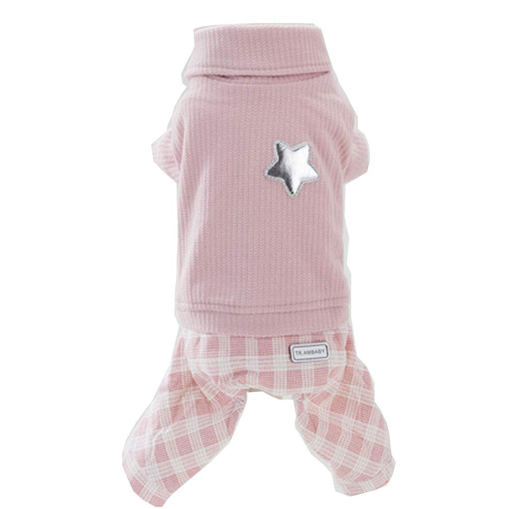 PINK XL ( weight 5.5-6.5 kg Inside) PINK XL ( weight 5.5-6.5 kg Inside) YONGYONG Cute Four-Legged Clothes Puppy Dog Autumn and Winter Wear Pet Poodle Small Dog Than Bear Thick Warm Winter color   Pink, Size   XL (Weight 5.5-6.5 kg Inside)