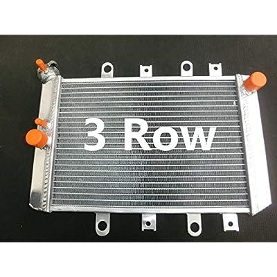 3 Row Aluminum Radiator For YAMAHA GRIZZLY YFM 700/550/500 YFM700 2007-2011 08 09 10: Automotive