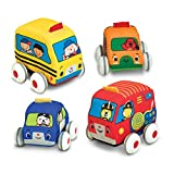 Melissa & Doug Pull-Back Vehicles, Soft Baby and Toddler Toy Set (4...