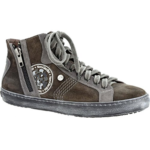 Negro Giardini–Sneaker Mujer Piel/Ante a309620d Pizzarra/Grigio