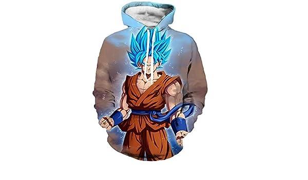 YUELIANG Goku Vegeta suéter de Moda con Capucha, Bolsillo Canguro ...