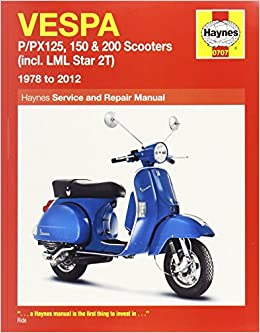 Buy Vespa: P/PX125, 150 & 200 Scooters (incl  LML Star 2T) 1978 to