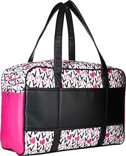 Luv Betsey Women's Cruzin Cotton Weekender w/A Luggage Pass Through On The Back Love Pink-Az One Size by Luv Betsey (Image #1)