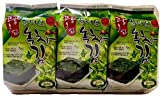 Sahmyook Roasted Seaweed Snack, Olive Oil and Green Tea, 0.18 Ounce (Pack of 9)