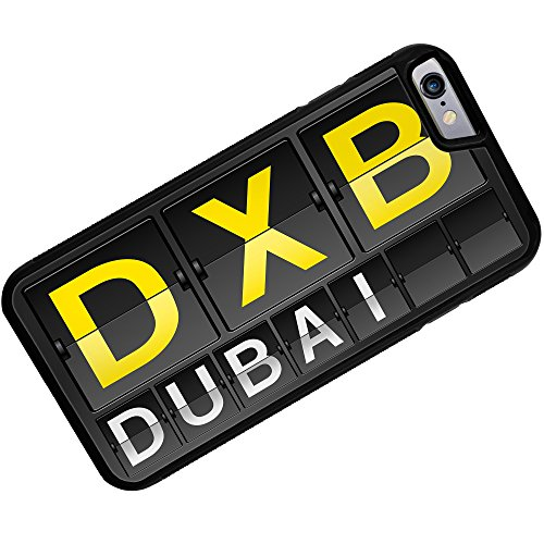 Rubber Case for iphone 6 DXB Airport Code for Dubai - Neonblond