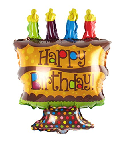 [Happy Birthday Cake Foil Balloons Birthday party air Balls inflatable Ballons lovely] (Dance Central Character Costumes)