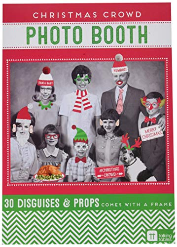 Talking Tables Christmas Entertainment Dressing Up Photo Booth Disguises with Fold Out Photo Frame (22 Pack), Multicolor -