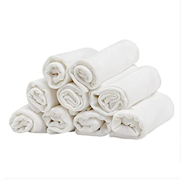 QIAN Bebé pañales de algodón de gasa tela a cuadros patrón de fibra de bambú de
