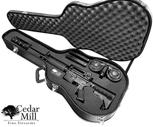 Discreet Concealment Guitar Rifle Case and Diversion Safe -