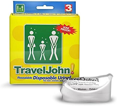 TravelJohn Wegwerp urinoirzak6 x 3 pack 18 urinoirs
