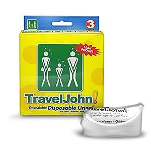 Traveljohn Disposable Urinal Bag 6 X 3 Pack 18 Urinals