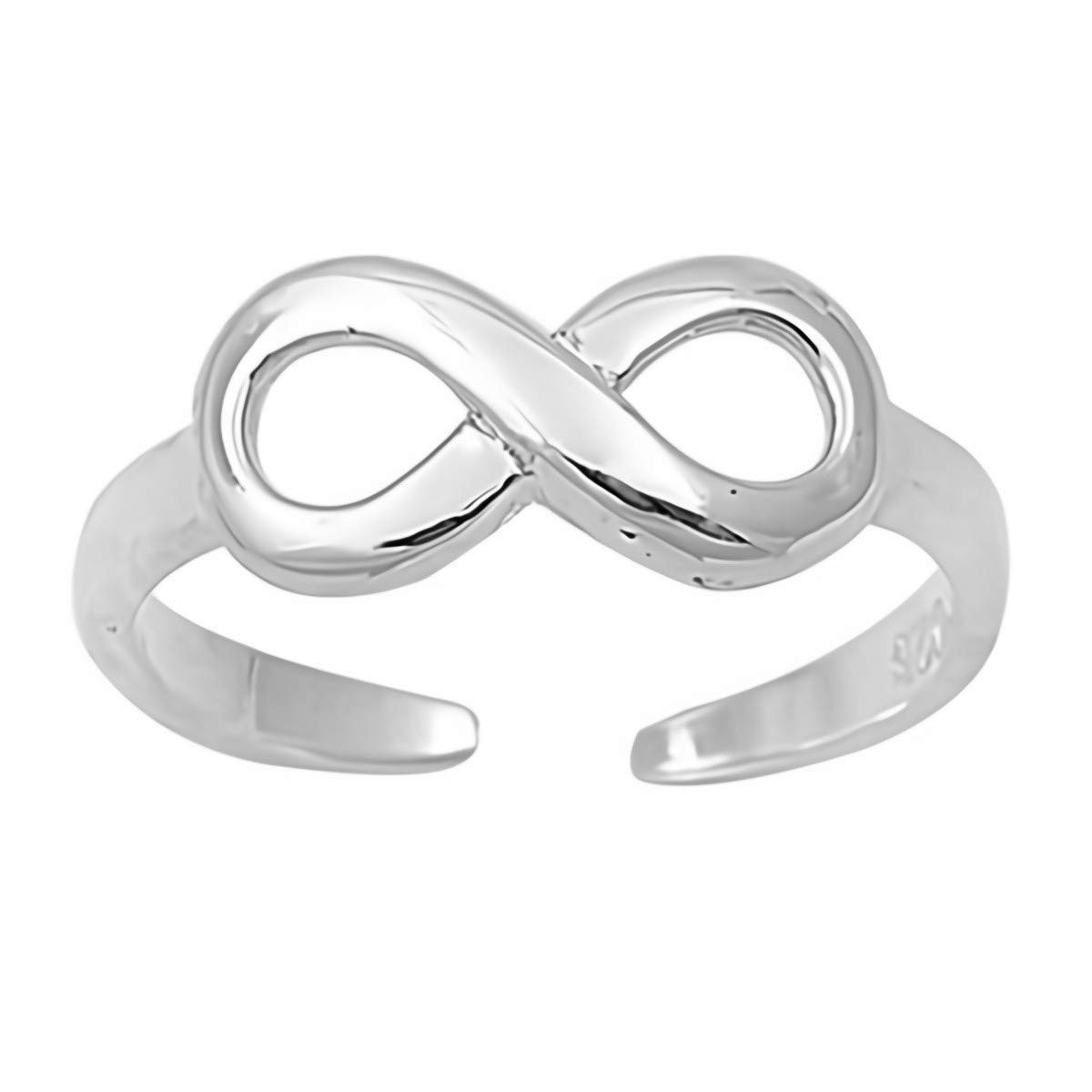 Infinity Glitzs Jewels 925 Sterling Silver Toe Ring for Women and Girls Cute Jewelry Gift