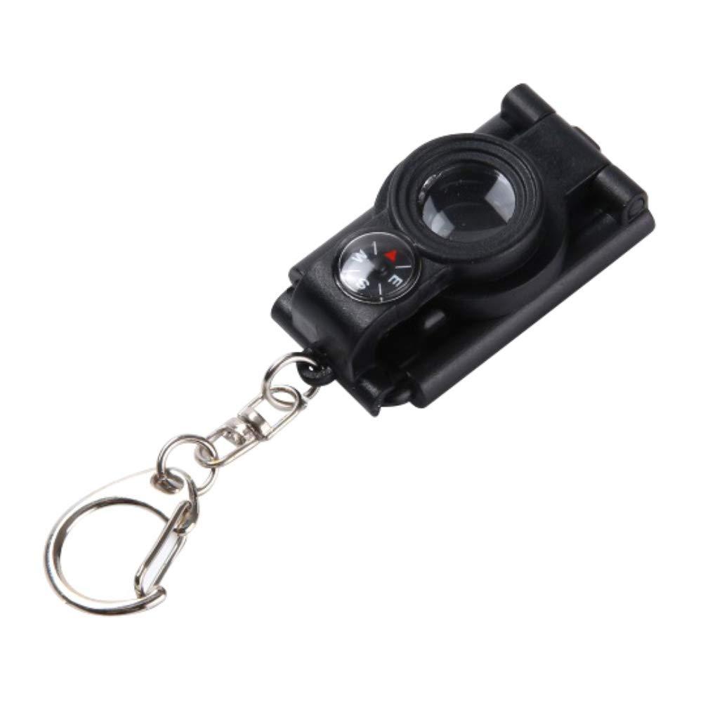 Rowentauk Kids Mini Telescope Magnifying Glass Creative Key Chain Toys with LED Light and Mini Compass Toys