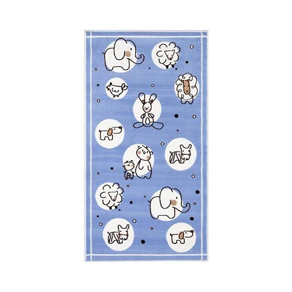 Evolur Home Farm Life Nursery Rug in Powder Blue