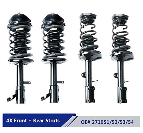 MOSTPLUS Front & Rear Complete Strut & Spring Assemblies Shock Absorbers For 93-02 TOYOTA COROLLA (Set of - Shocks Struts Best