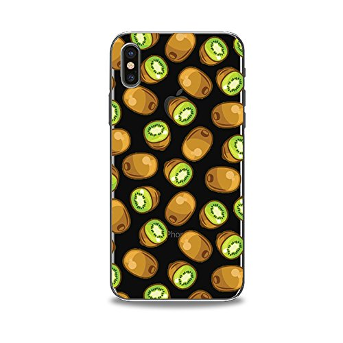 iPhone X Case/iPhone Xs Case,Blingy's Nice Fruit Style Transparent Clear Protective TPU Rubber Case Compatible for iPhone X and iPhone Xs (Kiwi)