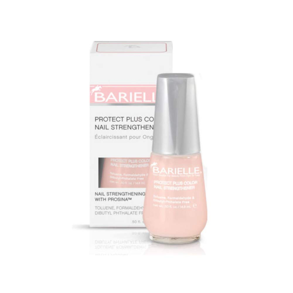 Barielle Protect Plus Color Nail Strengthener, Light Pink, 0.5 Ounce