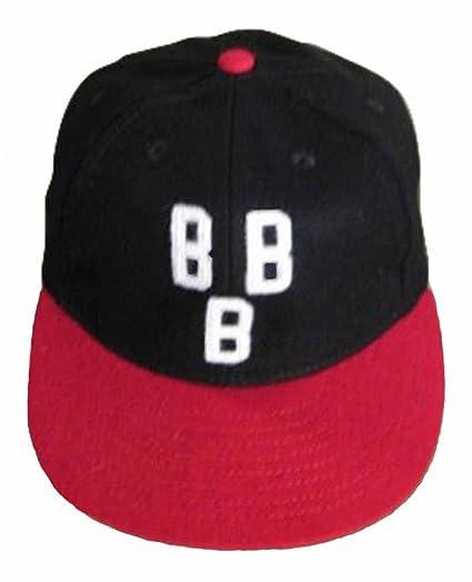 1e957597077 Ideal Cap Co. Birmingham Black Barons Vintage Baseball Cap 1948 6 7 8 Black